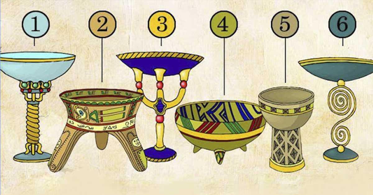 Тест с 6 магическими чашами, узнай свою судьбу
