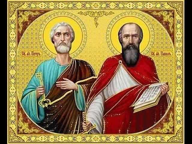 Икона святых апостолов Павла и Петра