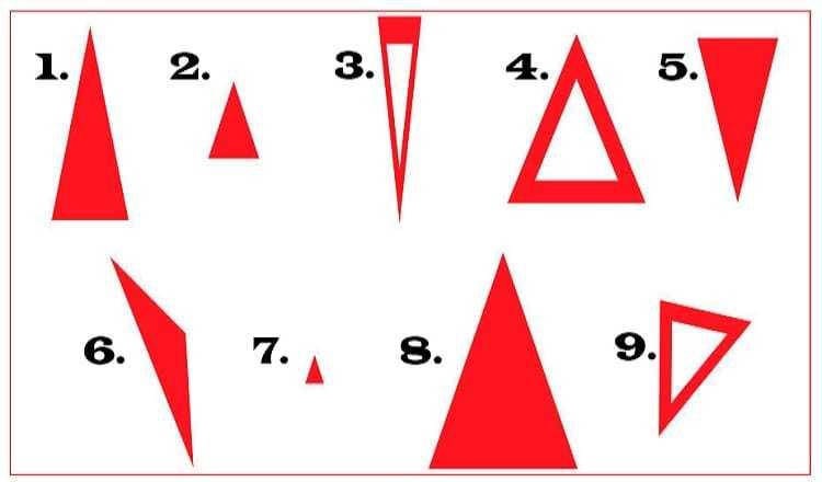 Тест по треугольникам Джулии Ванг