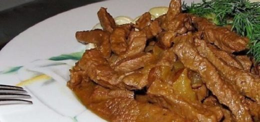 Ни с чем не сравнимое блюдо — Бефстроганов с грибами