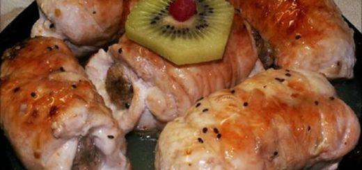 Вкуснейшие рулетики из куриного филе