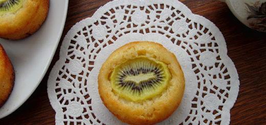 Лимонные маффины с киви