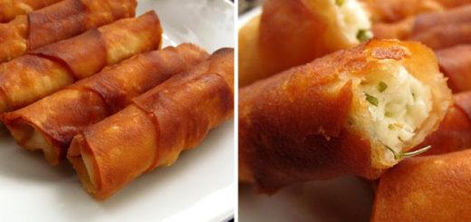Турецкие пирожки-трубочки с сыром (Peynirli Sigara Böreği)