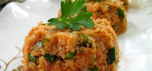 Салат из цветной капусты (Karnabahar kısırı)