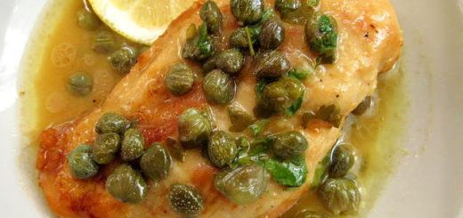 Куриная пикката, или куриное филе в лимонном соусе с каперсами (Chicken piccata)