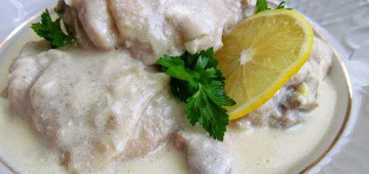 Аймокац - цыпленок в сметанно-лимонном соусе