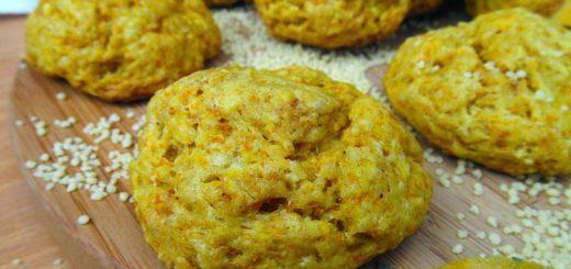 Тыквенно-чесночное печенье с кус-кусом