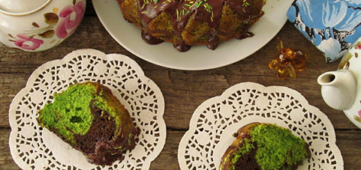 Шпинатно-шоколадный мраморный кекс (Ispanaklı Mermer Kek)