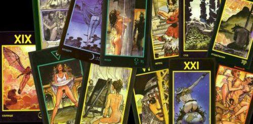 Гадание на эротических картах Таро Манара