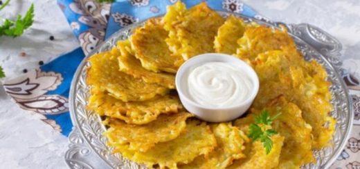 Ароматные картофельные оладьи с сыром