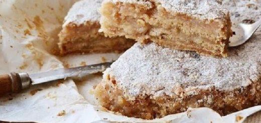 Насыпной яблочный пирог. Самый легкий в приготовлении пирог!