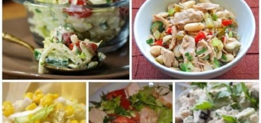 5 рецептов легких салатов, которые можно есть даже на ночь!