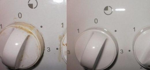 Даже не снимающиеся ручки у плиты легко почистить за 2 минуты