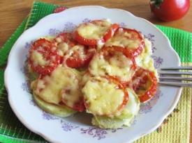 Вкуснейшие кабачки с помидорами и сыром в духовке