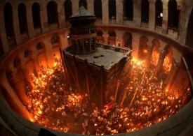 Схождение Благодатного огня 2015 - прямая онлайн трансляция видео из Иерусалима