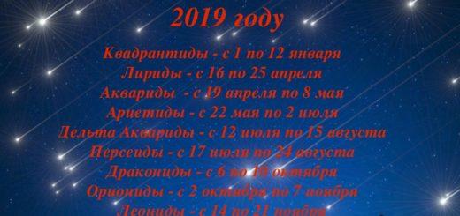 Звездопады в 2019 году: где и когда можно увидеть падающие звезды