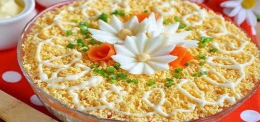 Делюсь рецептом простого салата к любому празднику. Быстро, красиво и очень вкусно!