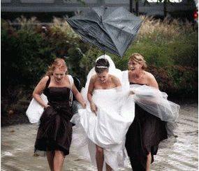 Примета: дождь на свадьбу
