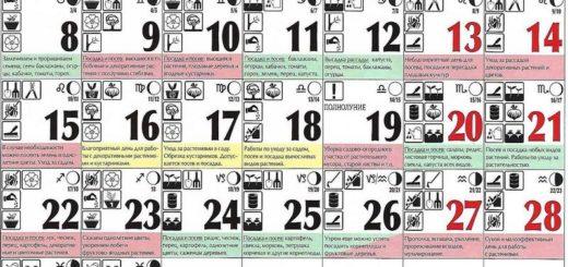 Лунный посевной календарь на апрель 2019 года
