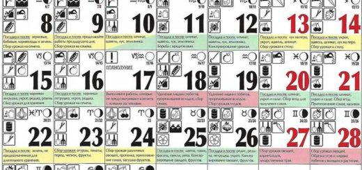 Лунный посевной календарь на июль 2019 года