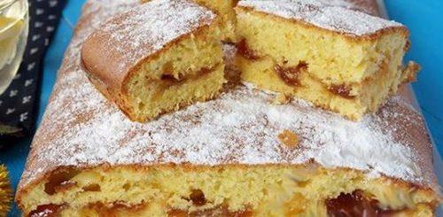 Пирог с вареньем «Снежинка» на скорую руку для занятых мам - быстро и очень вкусно!
